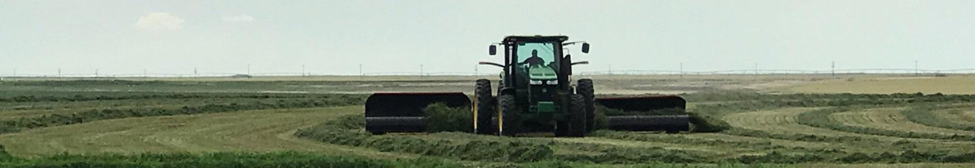 chopper cleaning grass